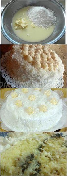 APRENDI ESSA RECEITA DE BOLO, GENTE É MARAVILHO E LINDO!! VEJA QUI>>(PASSO A PASSO)  Na batedeira bata  os ovos e o açúcar. Com a batedeira desligada  acrescente;  #receita#bolo#torta#doce#sobremesa#aniversario#pudim#mousse#pave#Cheesecake#chocolate#confeitaria# Dessert Recipes, Desserts, Camembert Cheese, Food And Drink, Dairy, Pudding, Health, Mousse, Cheesecake