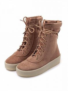 Shop Brown Faux Suede Lace Up Ankle Boots from choies.com .Free shipping Worldwide.$50.99