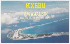 KX6BU Kwajalein Marshall Islands QSL Card 1989