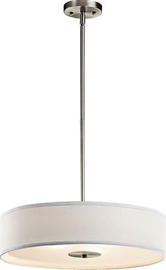 See the Kichler Pendant/Semi-Flush, Brushed Nickel. Find luxury home lighting online. Lighting Online, Home Lighting, Lighting Ideas, 3 Light Pendant, Pendant Lights, Brushed Nickel, Luxury Homes, Home Decor, Luxurious Homes