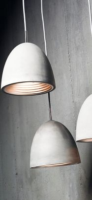 Concrete pendants: massive and soft at the same time | lighting . Beleuchtung . luminaires | Design: Viore | grant dorman |