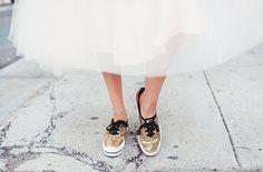 Glittery Keds x Kate Spade