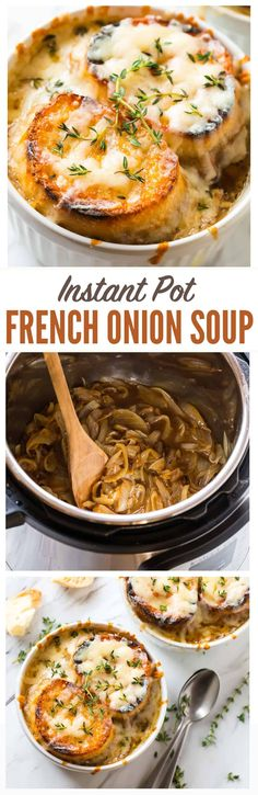 Instant Pot BEST French Onion Soup!Easily made vegan