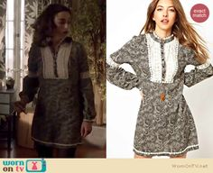 Allison's grey long sleeve dress with white lace detail on Teen Wolf. Outfit details: http://wornontv.net/17248/