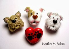 A set of custom fur babies by Heather Sellers. They really do leave pawprints on our hearts!