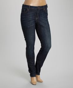 Another great find on #zulily! Dark Stone Mid-Rise Skinny Jeans - Plus #zulilyfinds
