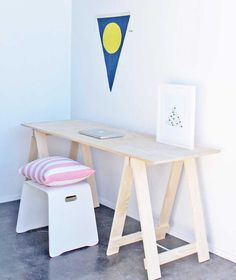 Trestle Desk with Chair