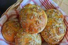 Chifle pufoase de casa cu cartofi   Savori Urbane Muffin, Bread, Breakfast, Food, Kitchen, Morning Coffee, Cooking, Brot, Essen