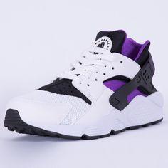the best attitude 18df8 ea56e AUTHENTIC Nike Huarache Run Running White Grape Purple   318429 105 Men sz