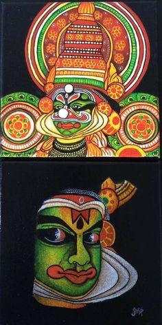 Black Canvas Paintings, Acrilic Paintings, Indian Art Paintings, Outline Drawings, Art Drawings Sketches Simple, Fabric Painting, Fabric Art, Buddha Drawing, Coaster Art