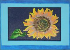 #SunFlower #Acrylic on wood #Sketch #Drawing #Painting