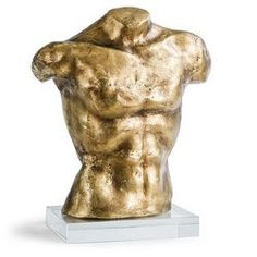 Gold Male Bust