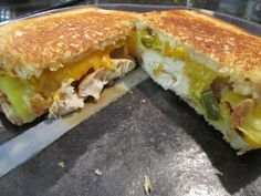 """HOISIN CHICKEN AND PINEAPPLE GRILLEDSANDWICHES ~ For Sunday brunch, I made this recipe as sandwiches and quesadillas. The quesadillas were quite good, but the sandwiches on sourdough…scrumptious! Junior said, """"Mom, these are the best grilled cheese sandwiches ever!"""""""