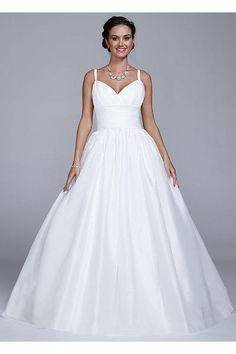 Taffeta Tank Wedding Dress with Empire Waist MB3653