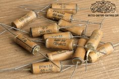 Vintage Repro Capacitor mfd uf 47 nF for Fender Telecaster Stratocaster and other electric Guitar, simply the best Capacitors for restauration and upgrade your Guitar Sound Les Paul Jr, Fender Telecaster, Custom Guitars, Gallery, Vintage, Roof Rack, Primitive