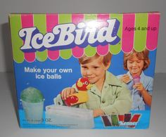 Kenner Ice Bird Snow Snowcone Cone Maker Ice Balls 1974 COMPLETE  #Kenner