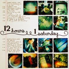 Love the idea of taking a photo every hour on the hour for a day