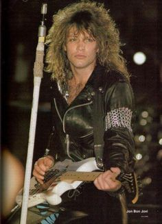 Jon Bon Jovi~Look how young he looks.. and so 80s! ;)