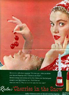 Nail Polish ad from the 1950s