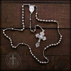 How sacrilegious......using the rosary to outline the state of Texas