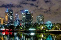 White night. Melbourne.