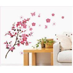 Nálepky na stenu - krík s kvetom sakury