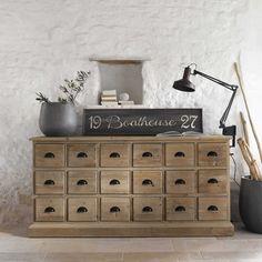 Comptoir en bois recyclé L 170 cm Lausanne   Maisons du Monde