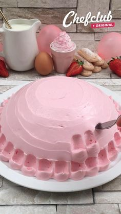 Summer Desserts, Easy Desserts, Delicious Desserts, Yummy Food, Strawberry Desserts, Healthy Desserts, Healthy Recipes, Baking Recipes, Cake Recipes