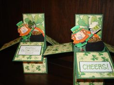 St Patrick's Pop-Up Box Card by auntpammy - Cards and Paper Crafts at Splitcoaststampers