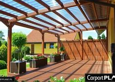 All year round covered pergola terrace custom terrace Although old throughout concept, the pergola is Planter Beds, Planters, Sloped Yard, Small Terrace, All Year Round, Roof Structure, Soothing Colors, Covered Pergola, Backyard