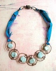 mixed materials necklace