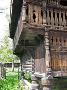 Side View of an Old Rustic Scandinavian Farm House