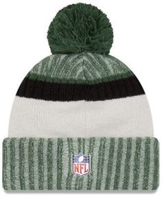 New Era New York Jets Sport Knit Hat - Green/Black Adjustable