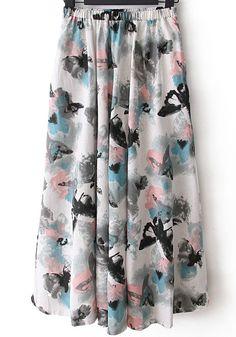Elastic Waist Butterfly Pleated Skirt 13.33