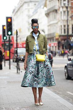 skirt alert. #MarshaCampbell in London. #StyleOfAlLondonTallGirl