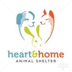 heart and home animal shelter | StockLogos.com