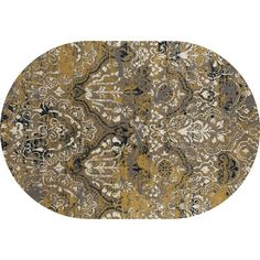Art Carpet Bastille Yellow Area Rug Rug Size: Oval 7' x 10'