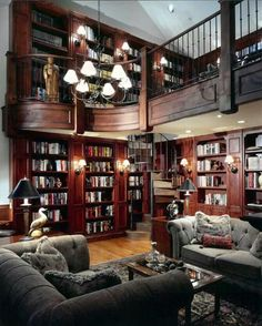 Stunning Home Library Ideas for Your Home. The love of reading is great, home library are awesome. However, the scattered books make the feeling less comfortable and the house a mess. Library Room, Dream Library, Beautiful Library, Cozy Library, Future Library, Library Card, Home Library Design, Library Ideas, Loft Design