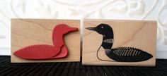 Loon rubber stamp from oldislandstamps