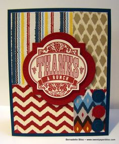One of the 4 cards masculine cards made for T.N.T. Thursday tutorial.  www.sweetpaperbliss.com