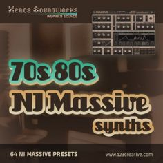 70s and 80s Synths - retro presets for NI Massive synth. Genres: 80s, Funk, Pop, Rock, New Wave, Hip Hop, Chillout, Breakbeat, House, Electro. Product page / Demosong: http://www.123creative.com/electronic-music-production-massive-presets/980-70s-and-80s-synths-retro-massive-presets.html