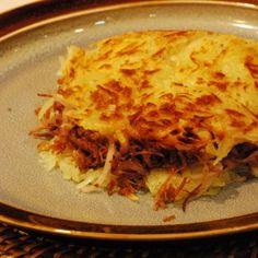 Batata rosti com carne de sol