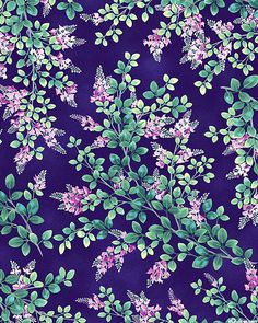 Moon over Waterfall - Wild Wisteria - Quilt Fabrics from www.eQuilter.com