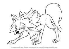 Learn How To Draw Lycanroc Midday Form From Pokemon Sun And Moon Pokemon Sun And Moon St In 2020 Pokemon Coloring Sheets Moon Coloring Pages Pokemon Coloring Pages