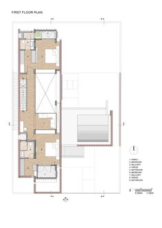 Image 20 of 26 from gallery of Brick House / Architecture Paradigm. First Floor Plan