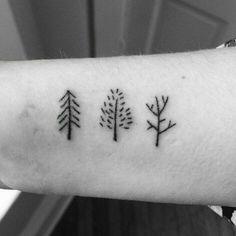 petit tatouage arbre small tree tattoo ideas