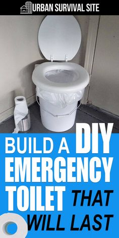 After a major disaster, the convenience of bathrooms and toilets will become a fond memory. That's why you need to build your own DIY emergency toilet. Urban Survival, Survival Life, Survival Food, Homestead Survival, Survival Prepping, Survival Skills, Survival Hacks, Survival Shelter, Survival Quotes