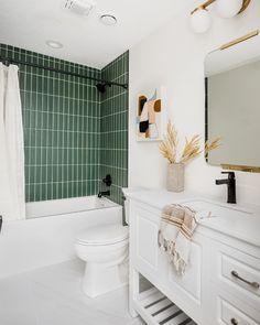 design + build @construction2style  📸 @chelsielopezproduction   Tiles featured: Tresana Blanco Matte + Color Market Highland. Slate Wall Tiles, Marble Subway Tiles, Slate Flooring, Marble Wall, Wall And Floor Tiles, Versailles Pattern, Tile Trim, The Tile Shop, Bathroom Tile Designs