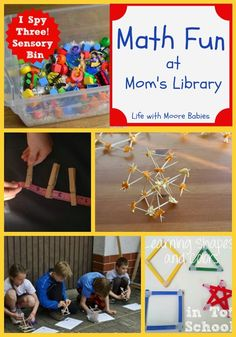 Life with Moore Babies: Math at Mom's Library