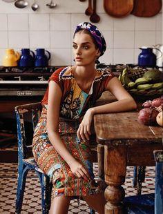 @Dolce & Gabbana Sicilian Folk looks right at home in Salvador de Bahia, Brazil. SS13 collection.